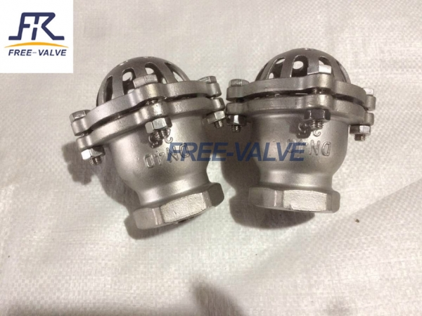 Screw foot valve,Stainless Steel Bottom Valve Lift Check Valve Screwed Foot Valve