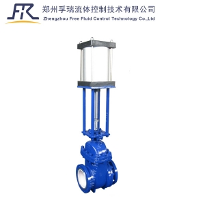 Pneumatic Ceramic Wet Ash Gate Valve for fly ash system