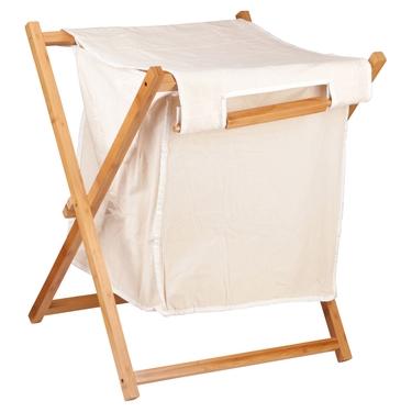 Bamboo Laundry Hamper White--Homex