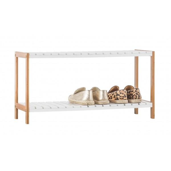 Bamboo 2 Tier Shoe Rack--Homex_FSC/BSCI