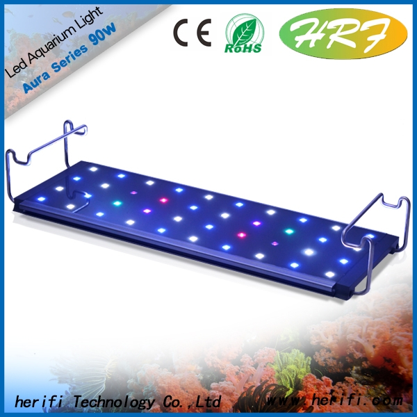 HRF HOT Full Spectrum 600mm 90w led aquarium lighting high quality high power 180w dimmable led aquarium light