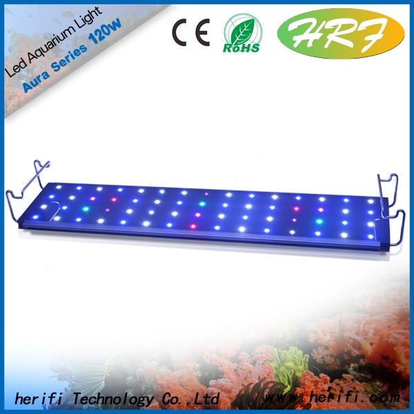 Chines 90cm 120 watt 240watt intelligent led aquarium lighting 12'24'36'48' best for coral and marine fish growth and breeing led aquarium light