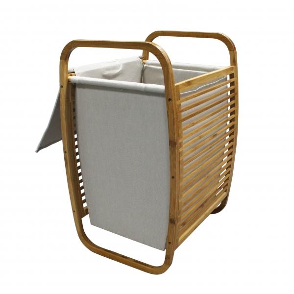 Bamboo Laundry Hamper--Homex_FSC/BSCI