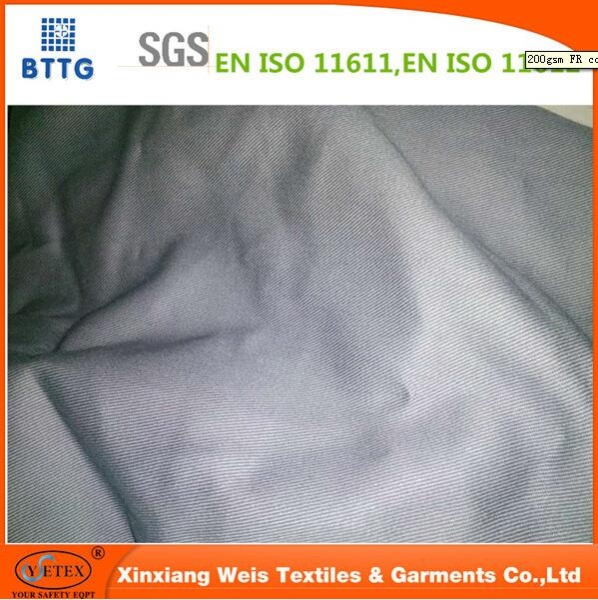 Chinese in stock cheapest fire prevent grey fabric for mining workwear