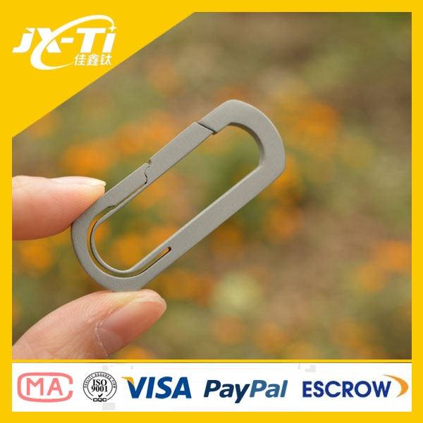 Strong 50mm Titanium O Shape carabiner edc tool , Quick Release Keychain Accessories