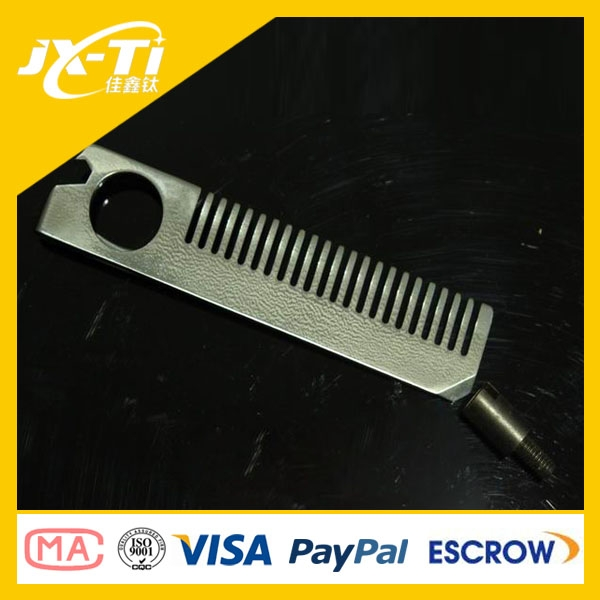 multifunction titanium Hair comb , screwdriver ,bottle opener ,money clip , pocket tool