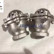 Screw foot valve,Stainless Steel Bottom Valve Lift Check Valve Screwed Foot Valve