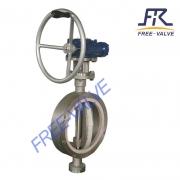 Manual Wafer type ceramic butterfly valve