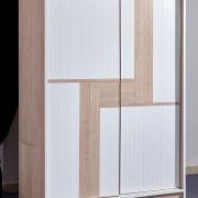 Metal Bedroom Furniture Sliding Door Wardrobe