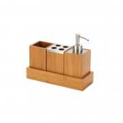 Bamboo Bathroom Accessories From Homex-FSC/BSCI