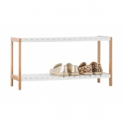 Bamboo 2 Tier Shoe Rack--Homex_FSC/BSCI