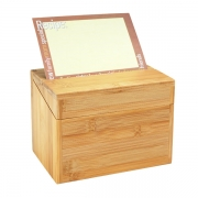 Bamboo Recipe Box Homex-FSC/BSCI